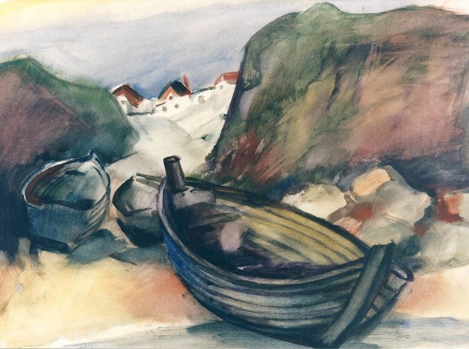 gawell-oskar-fischerboote-am-strand-30er-jahre-aquarell-49-x-68-cm-signiert-foto-galerie-koch-kopie